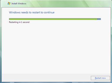 Truco Instalar Windows Vista Reiniciar
