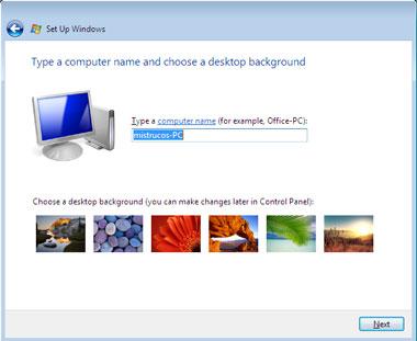 Truco Instalar Windows Vista nombre pc