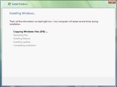 Truco Instalar Windows Vista Instalando